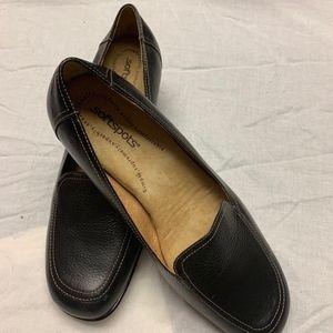 Black Leather Shoes SOFTSPOTS